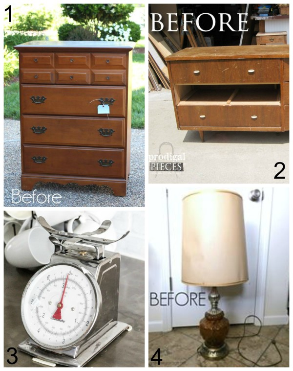 Trash To Treasure Friends Makeovers - artsychicksrule #milkpaint #mmsmilkpaint