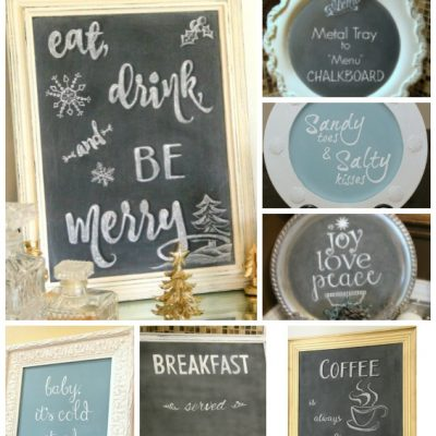DIY Chalkboards Galore