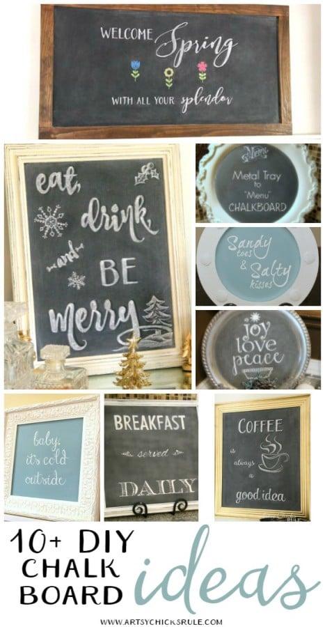 10+ DIY Chalkboard Ideas - artsychicksrule.com