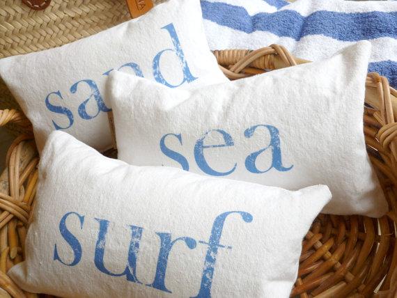 Beach Pillows - ShannSpishakStudio Etsy