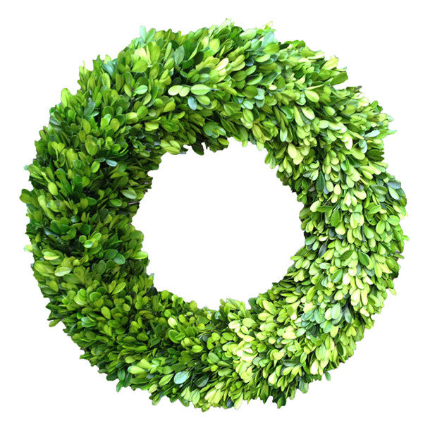 Boxwood+Country+Manor+Round+Wreath Joss and Main