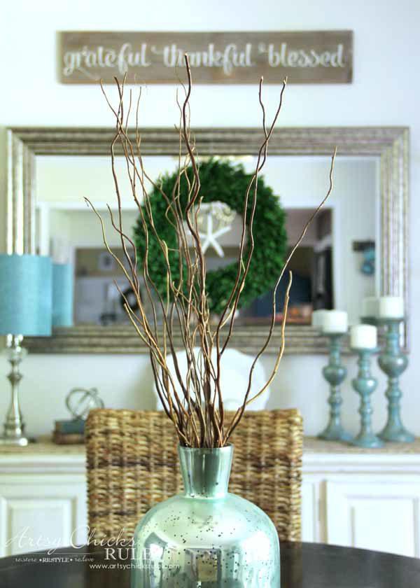 Dining Room DIY Wall Shelves - DINING - artsychicksrule.com #wallshelves
