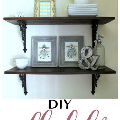 Dining Room DIY Wall Shelves