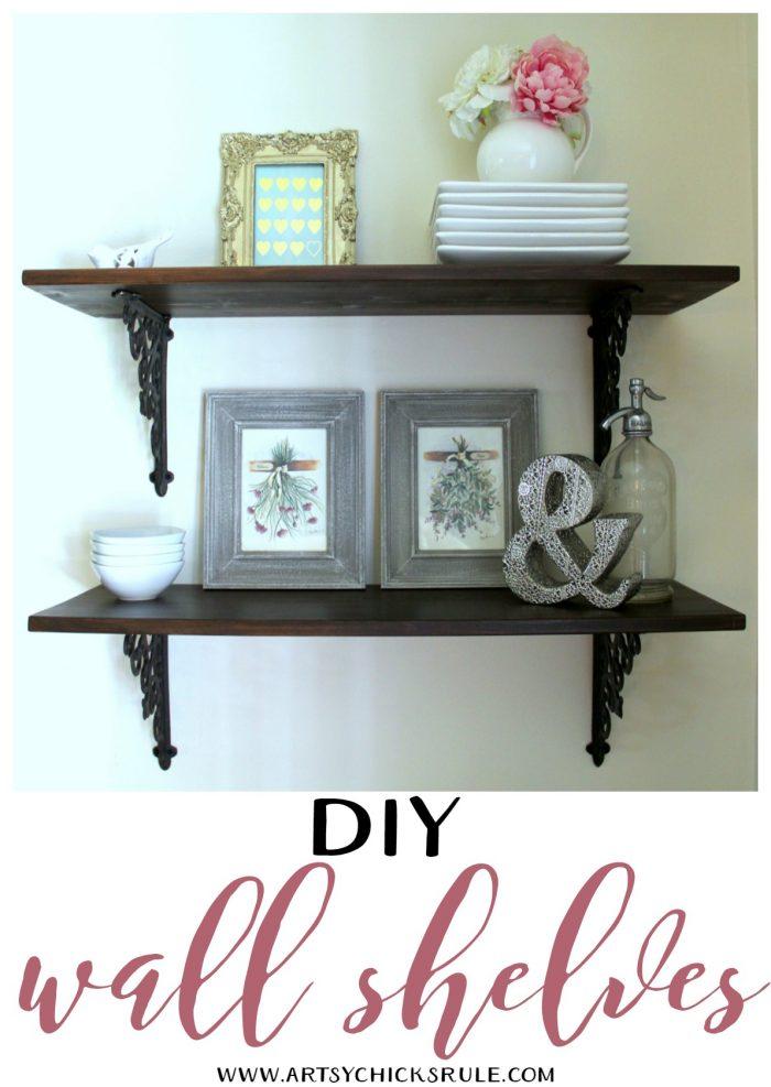 Dining Room DIY Wall Shelves
