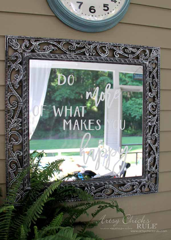 Mirror Word Art - DO MORE OF WHAT MAKES YOU HAPPY - artsychicksrule.com #mirrorwordart #silhouette