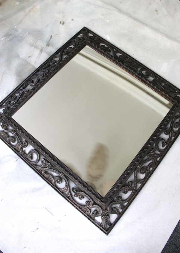 Mirror Word Art - Old Mirror Before - artsychicksrule.com #mirrorwordart #silhouette