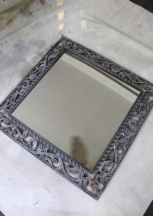 Mirror Word Art - Old Mirror Dry Brushed - artsychicksrule.com #mirrorwordart #silhouette