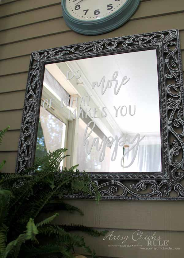 Mirror Word Art - SO EASY WITH SILHOUETTE- artsychicksrule.com #mirrorwordart #silhouette