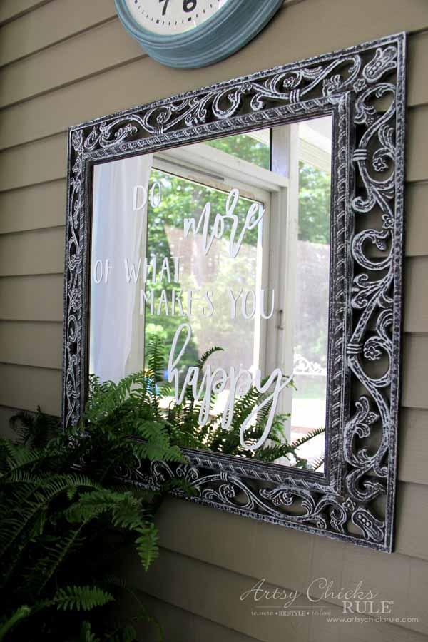 Mirror Word Art - Silhouette Cameo - artsychicksrule.com #mirrorwordart #silhouette