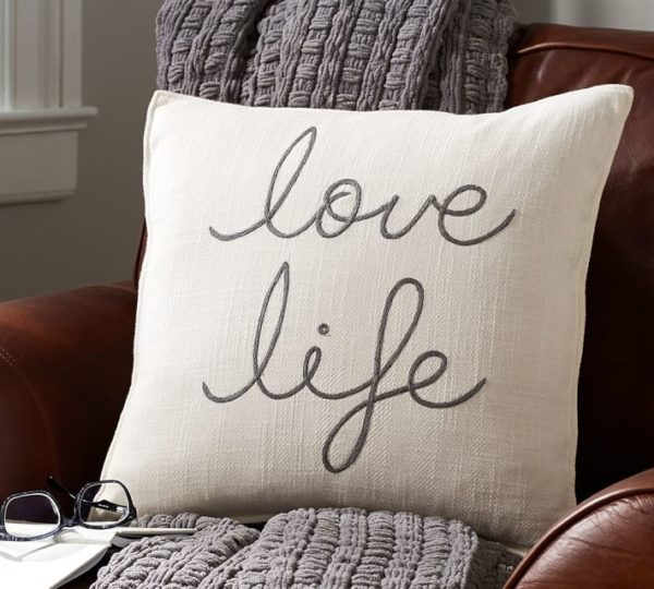 love-life-embroidered-pillow-cover- Pottery Barn