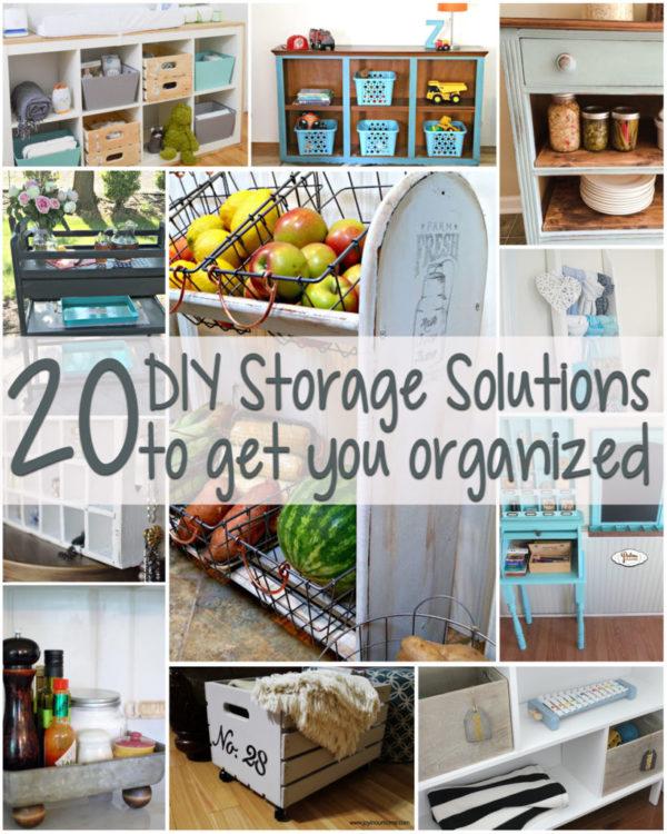 20 DIY Storage Solutions - artsychicksrule