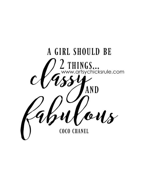 Classy and Fabulous - Printable - artsychicksrule