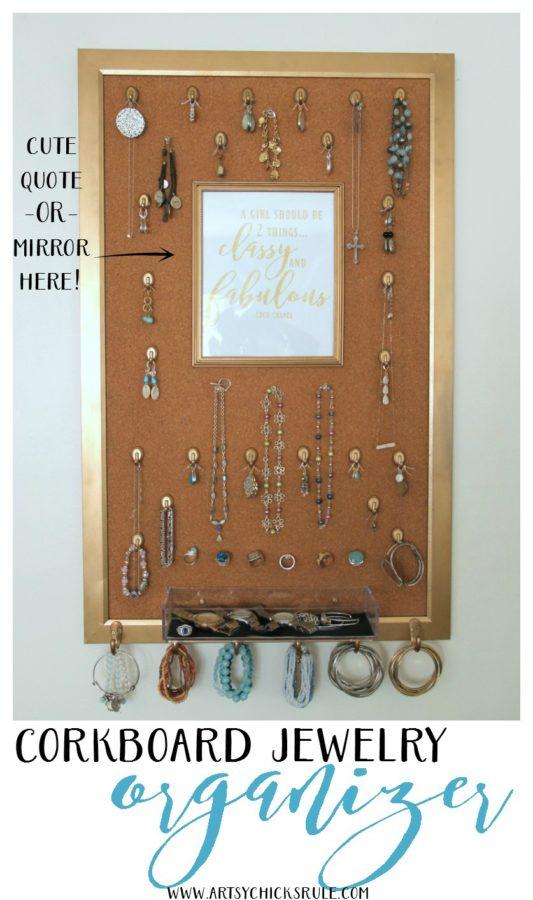 DIY Jewelry Organizer - EASY ORGANIZER - artsychicksrule #jewelryorganizer #popularpins