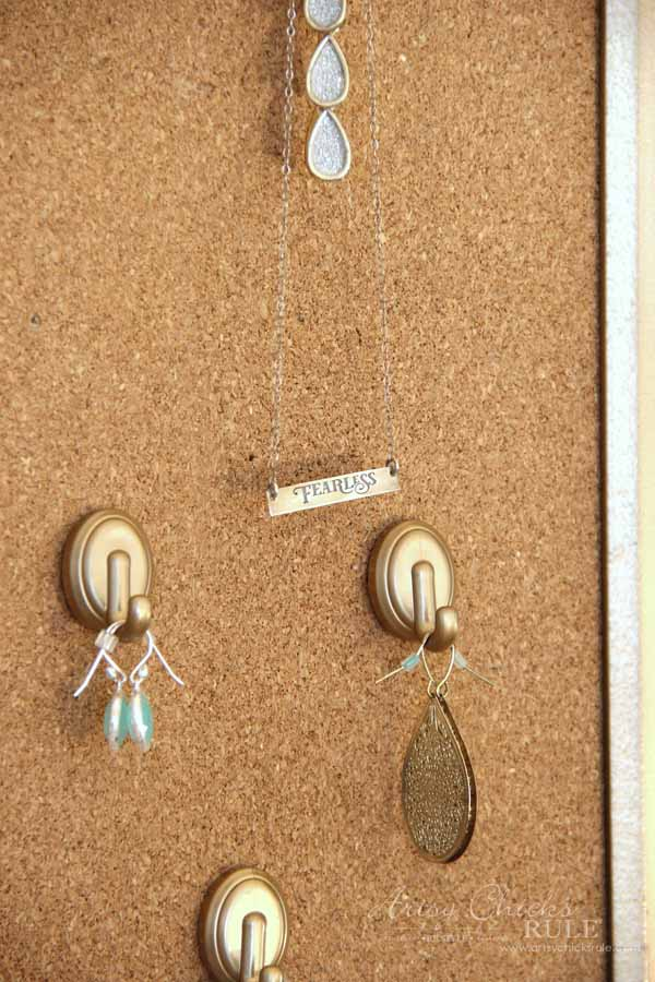 DIY Jewelry Organizer - FEARLESS necklace - artsychicksrule #jewelryorganizer #popularpins