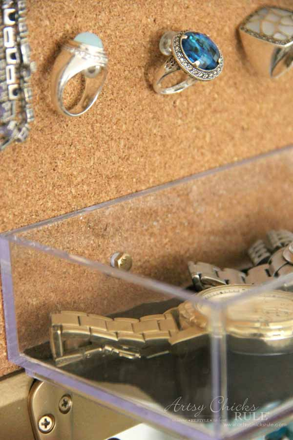 DIY Jewelry Organizer - watch cubby organizer - artsychicksrule #jewelryorganizer #popularpins