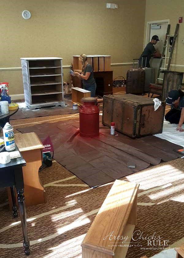 GMC & The World's Longest Yardsale - painting - artsychicksrule #worldslongestyardsale #gmc