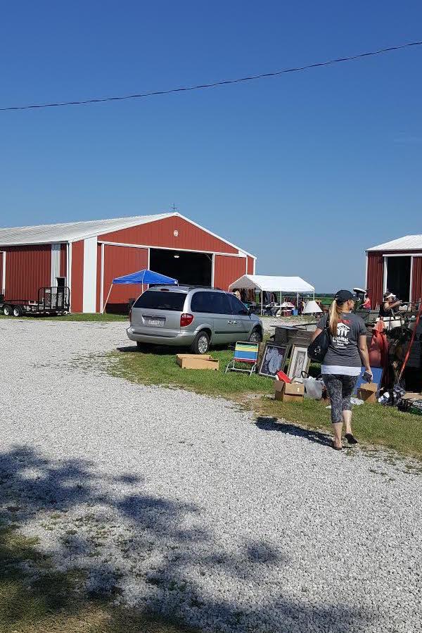 GMC Worlds Longest Yardsale - big red barn sale - #artsychicksrule #worldslongestyardsale