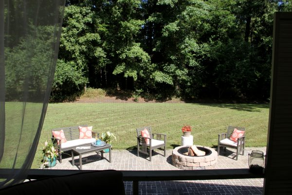 Screened Porch & Patio Makeover - back yard now - artsychicksrule #popularpins #patiomakeover #porch