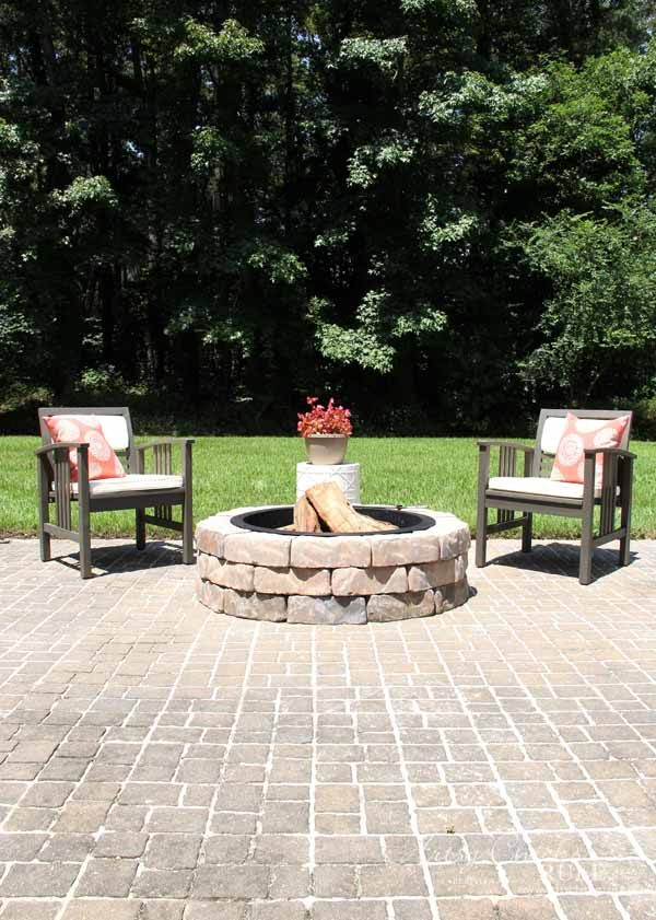 Screened Porch & Patio Makeover - patio pavers - artsychicksrule #popularpins #patiomakeover #porch