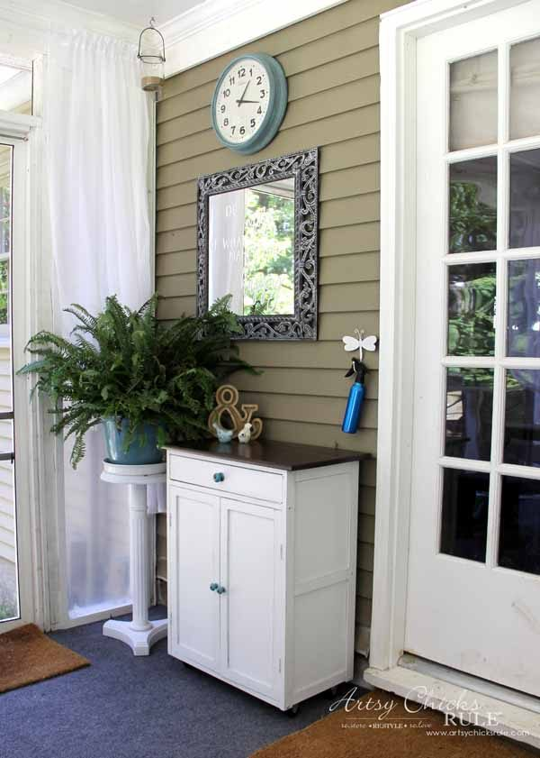 Screened Porch & Patio Makeover - right side - artsychicksrule #popularpins #patiomakeover #porch