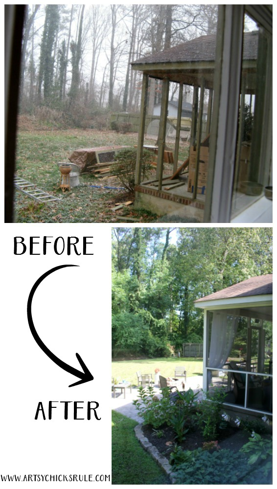 Screened Porch U0026 Patio Makeover   What A Difference   Artsychicksrule  #popularpins #patiomakeover #
