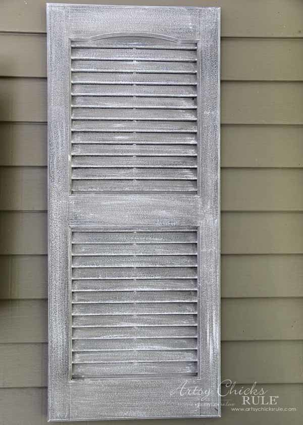 Thrifty Porch Decor - 2 Simple Steps for FAUX Weathered look - artsychicksrule.com