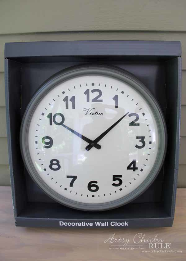 Thrifty Porch Decor - Big Lots Clock - artsychicksrule.com