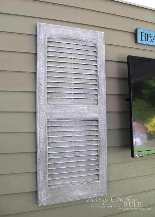 Thrifty Porch Decor - FAUX Weathered look in 2 steps - artsychicksrule.com