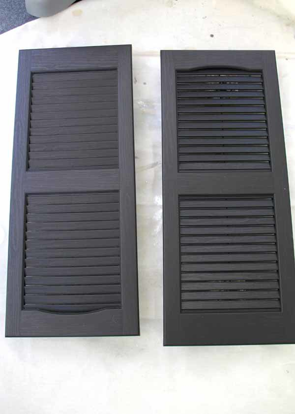 Thrifty Porch Decor - Plastic Shutters $23 - artsychicksrule.com