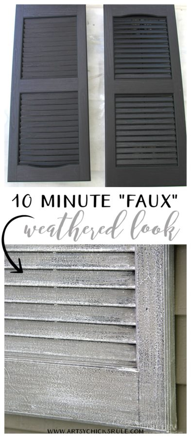 Thrifty Porch Decor - SUPER EASY 10 MINUTE FAUX WEATHERED LOOK - artsychicksrule