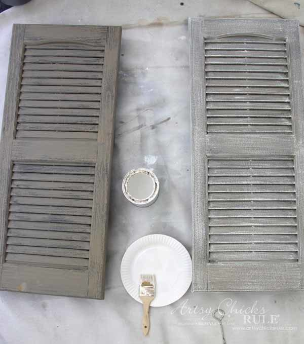 Thrifty Porch Decor - Weathered with Chalk Paint - artsychicksrule.com