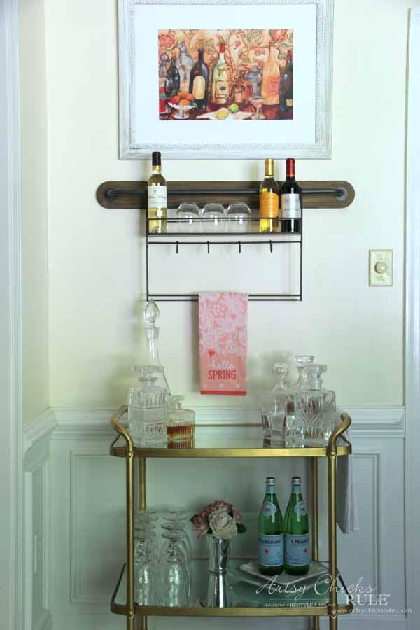Wine Rack Decor With Bar Cart Artsysrule Winerack Worldmarket