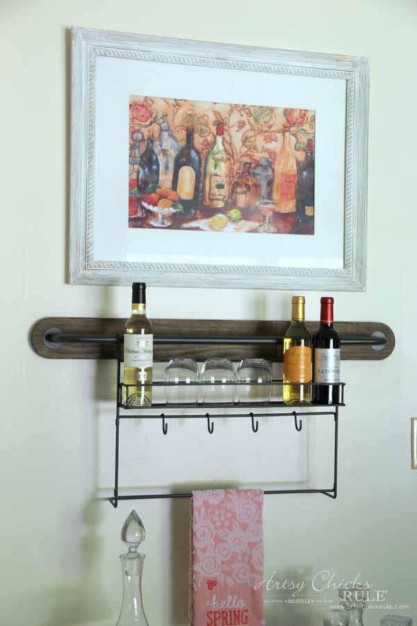 Wine Rack Decor - with wine print - artsychicksrule #winerack #worldmarket