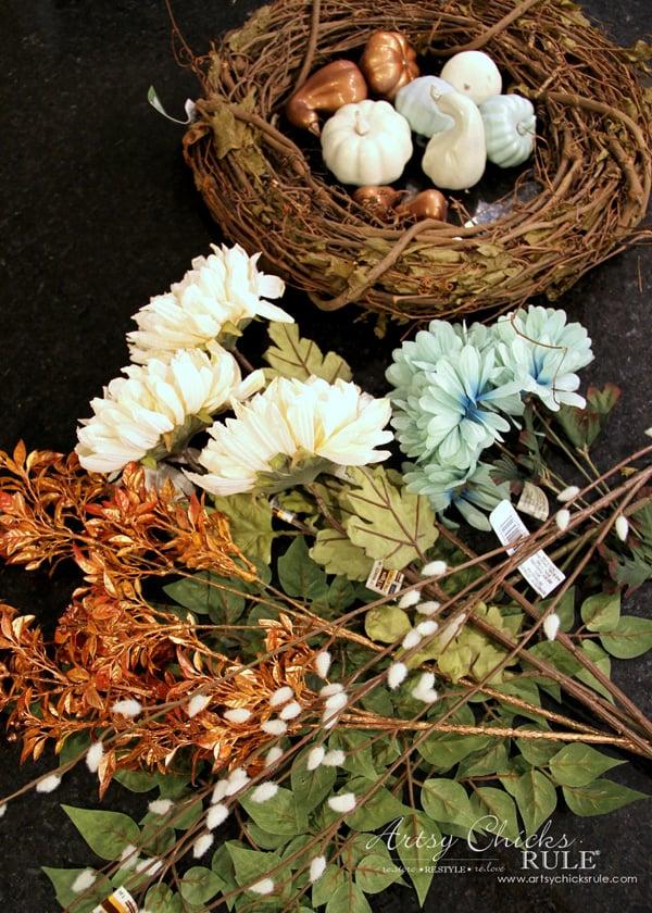 Coastal Fall Wreath - Supplies needed - artsychicksrule.com #fallwreath #coastalfallwreath