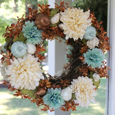 Simple & Quick Coastal Fall Wreath