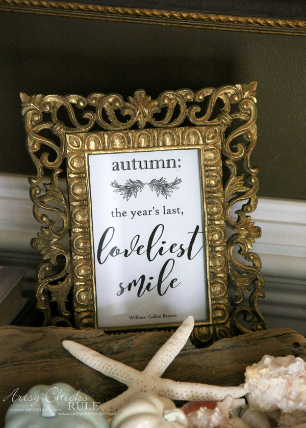 FREE Fall Printables - Autumn Quote Framed - artsychicksrule.com #freeprintables #fallquotes #autumnquotes
