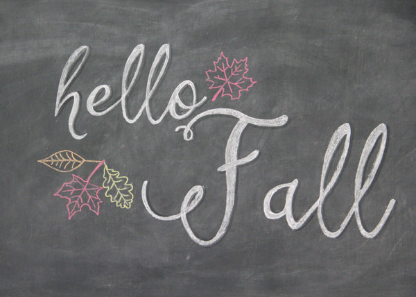 FREE Fall Printables - Chalkboard Art with Shadowing - artsychicksrule.com #freeprintables #fallquotes #autumnquotes