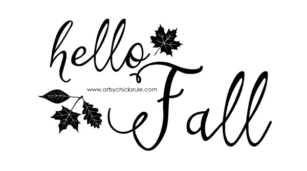 FREE Fall Printables - Hello Fall Quote - artsychicksrule.com #freeprintables #fallquotes #autumnquotes