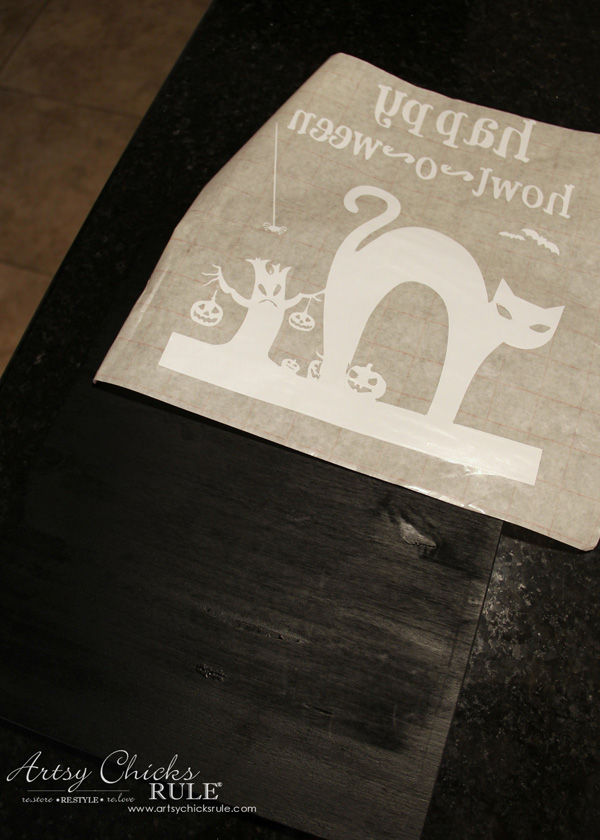 halloween-no-sew-flag-and-sign-step-1-silhouette-artsychicksrule-nosewflag-halloweendecor