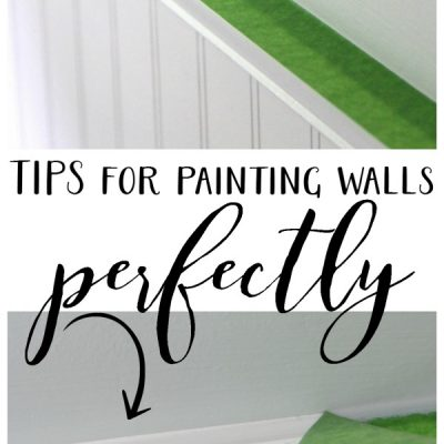 Tips for Painting Walls (Guest Bath Makeover)