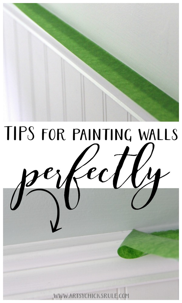 Tips for Painting Walls Perfectly - #frogtape #ad #artsychicksrule