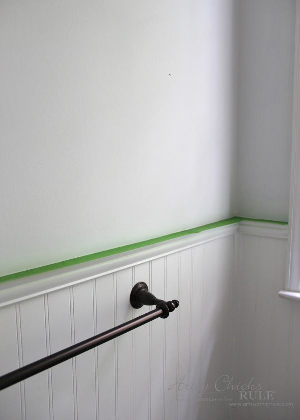 Tips for Painting Your Walls - Get crisp lines with Frogtape - #artsychicksrule #frogtape #ad