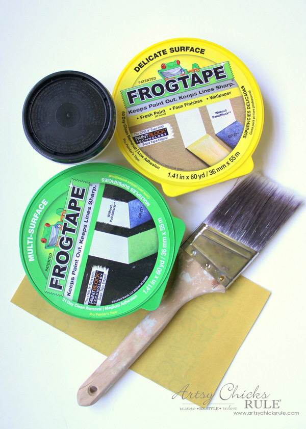 Tips for Painting Your Walls Perfectly - Frogtape and supplies - #artsychicksrule #frogtape #ad