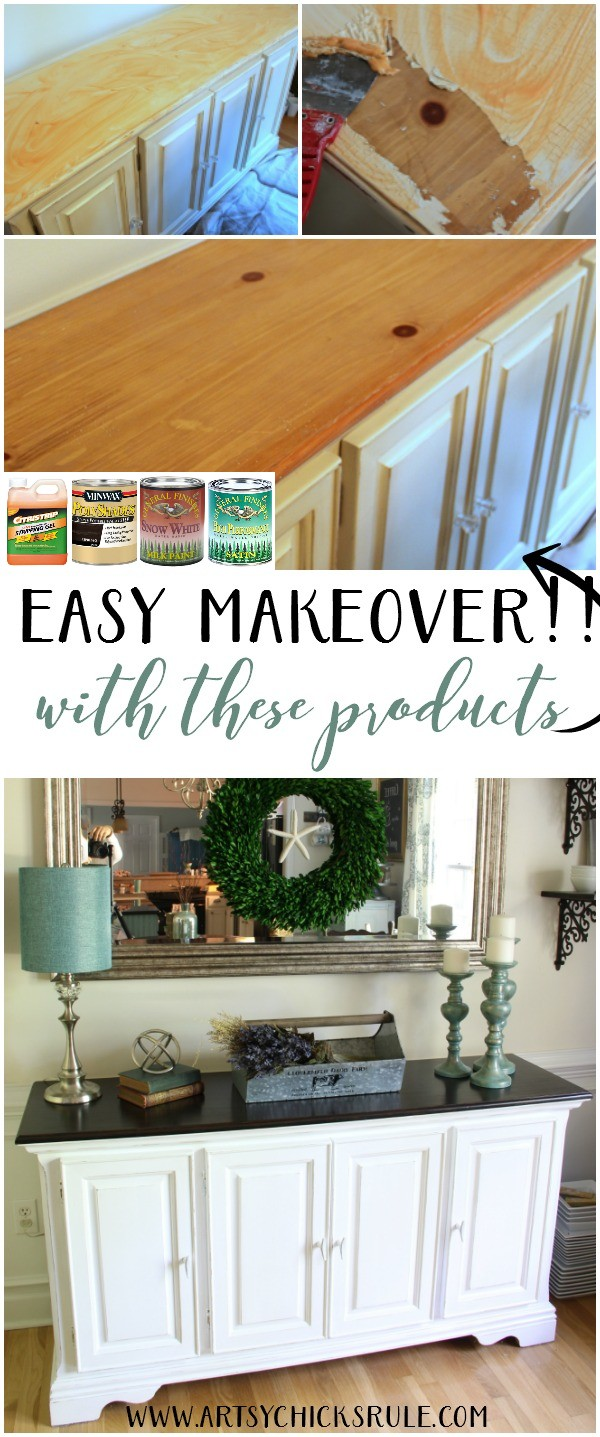 SOOO Easy Furniture Makeover!!! Dining Room Furniture artsychicksrule.com