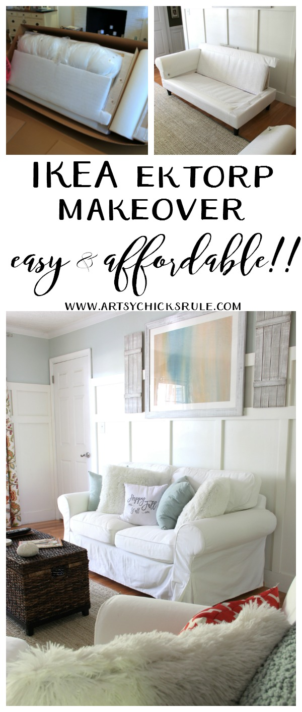 BEST DECISION EVER!! Love this furniture!!! IKEA Ektorp Makeover artsychicksrule