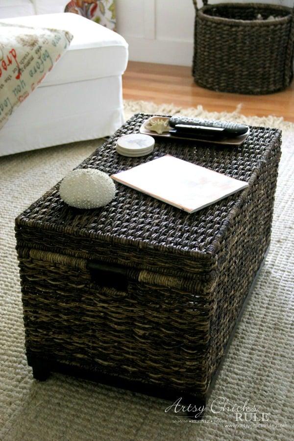 IKEA Ektorp Makeover basket trunk artsychicksrule