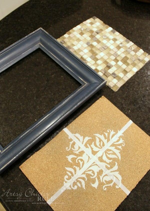 old-frame-turned-diy-tiled-tray-before-artsychicksrule-tiledtray