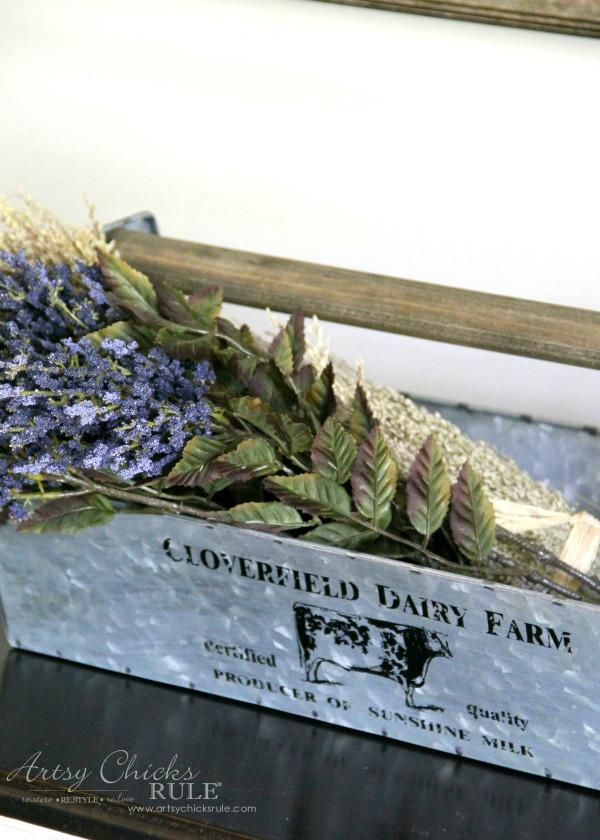 Rustic Farm Caddy - artsychicksrule.com #farmhousestyle #farmhousedecor 1