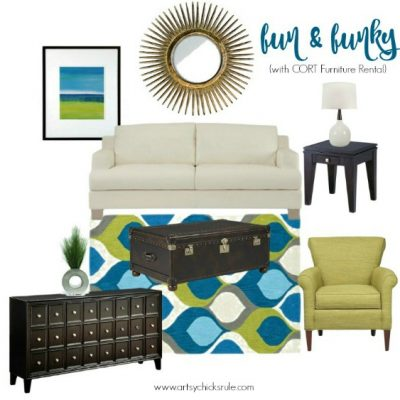 Decorating Ideas – 1 Room, 3 Ways (with CORT Furniture Rental)