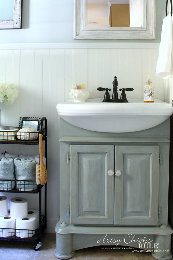 Coastal Farmhouse Bath Reveal All The Makeover Details